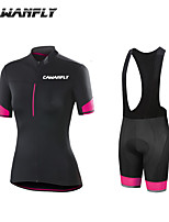 cheap -CAWANFLY Boys' Short Sleeve Cycling Padded Shorts Cycling Jersey with Bib Shorts Cycling Jersey with Shorts Spandex Black / Orange Pink+White Pink / Black Bike Shorts Breathable Sports Geometic