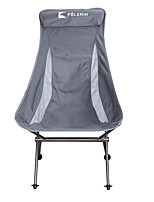 cheap -Camping Chair High Back with Headrest Multifunctional Portable Breathable Ultra Light (UL) Aluminum Alloy for 1 person Fishing Beach Camping Traveling Autumn / Fall Winter Grey