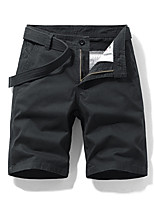 """cheap -Men's Hiking Shorts Summer Outdoor 10"""" Regular Fit Quick Dry Breathable Sweat wicking Wear Resistance Cotton Shorts Black Army Green Blue Grey Khaki Fishing Beach Camping / Hiking / Caving 30 32 34"""