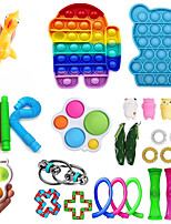 cheap -29 pcs Fidget Sensory Toy Set Stress Relief Toys Autism Anxiety Relief Stress Pop Bubble Fidget Sensory Toy For Kids Adults