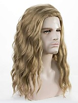 cheap -Mens Long Curly Wave Blonde Wig Halloween Cosplay Anime Wig