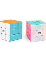 cheap -Qiyi Warrior W 3x3 Speed Cube Bundle Stickerless 3x3x3 and Jelly 3x3 Magic Cube Puzzles Set