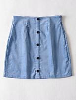 cheap -Women's Date Weekend Vintage Streetwear Skirts Solid Colored Black Blue Green