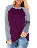 cheap -Women's T shirt Hiking Tee shirt Long Sleeve Tee Tshirt Top Outdoor Quick Dry Lightweight Breathable Sweat wicking Autumn / Fall Spring Summer claret Black Blue Hunting Fishing Climbing