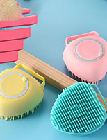 cheap -Silicone Bath Brush For Baby Child Baby Scrubbing Artifact Bathing Back Bathing Brush Soft Hair Bottled Bath Ball