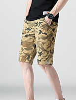 """cheap -Men's Hiking Shorts Hiking Cargo Shorts Military Camo Summer Outdoor 12"""" Ripstop Quick Dry Multi Pockets Breathable Cotton Knee Length Bottoms Army Green Blue Grey Khaki Work Hunting Fishing 28 29 30"""