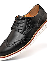 cheap -Men's Oxfords Leather Shoes Bullock Shoes Business Sporty Casual Daily Outdoor Walking Shoes Trail Running Shoes Nappa Leather Cowhide Breathable Non-slipping Shock Absorbing Booties / Ankle Boots