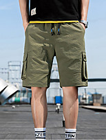 """cheap -Men's Hiking Cargo Pants Hiking Shorts Summer Outdoor 12"""" Ripstop Quick Dry Multi Pockets Breathable Cotton Knee Length Bottoms Red Army Green Black Work Fishing Climbing M L XL XXL XXXL"""