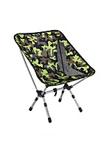 cheap -Camping Chair Multifunctional Portable Breathable Ultra Light (UL) Aluminum Alloy for 1 person Fishing Beach Camping Traveling Autumn / Fall Winter Camouflage
