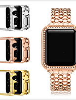 cheap -Cases For Apple iWatch Apple Watch Series 6 / SE / 5/4 44mm / Apple Watch Series  6 / SE / 5/4 40mm / Apple Watch Series  3/2/1 38mm Alloy Screen Protector Smart Watch Case Compatibility 38mm 40mm