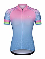 cheap -women's cycling jersey short sleeve ladies cycling tops quick dry bike shirts for women pink-blue