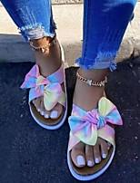 cheap -Women's Sandals Flat Heel Round Toe PU Leopard Blue+Pink