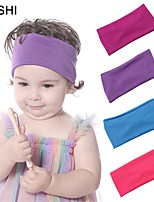cheap -amazon fashion 6-color wide-sided elastic band elastic children's headband autumn and winter models super soft solid color baby headband
