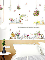 cheap -Wall Sticker Hanging Basket Vase Small Fresh DIY Dining Room Kitchen Porch Wall Beautification Decorative Wall Stickers Decorative Wall Stickers