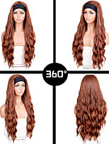 cheap -european and american wigs, hair bands, long brown chemical fiber wigs, hot sale turban wool roll wigs wholesale