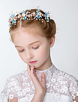 cheap -1pcs Kids / Toddler Girls' Wreath Head Flower Beautiful Handmade Children's Hair Accessories Photo Headdress Wedding Mori Girl Korean Flower Girl Accessories
