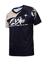 cheap -CAWANFLY Men's Short Sleeve Cycling Jersey Downhill Jersey with Pants Dirt Bike Jersey Summer Black Novelty Funny Bike Tee Tshirt Jersey Top Mountain Bike MTB Road Bike Cycling Quick Dry Breathable