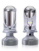 cheap -1set New H4 LED Bulb Projector Lens H4 Conversion Kit H4 Bulb 4800LM Automobiles Hi/Lo Beam LED Headlight Bulbs 12V 6000K White
