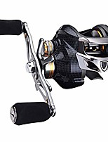 cheap -jiadiaoni carbon fiber baitcasting reel lightweight 18+1bb double brake 7.0:1 gear ratio 10kg strong pull 7.6 oz ultralight fishing reels raft boat fishing luya front hit ice fishing (tai-a113-right)