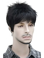 cheap -Short Striaght Full Synthetic Wig for Men Male Hair Fleeciness Realistic Wigs