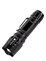 cheap -Flashlight Portable Zoomable Rechargeable Hand Torch 15W Aluminum Dimmer Focus Bright Flashlight for Hiking Camping Jogging Outdoor Sports XML-T6 Model