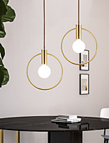 cheap -30 cm Circle Design Line Design Pendant Light Copper Artistic Style Metal Stylish Brass Modern Nordic Style 110-120V 220-240V