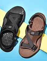 cheap -Men's Sandals Beach Daily Elastic Fabric Breathable Non-slipping Wear Proof Black Brown Summer