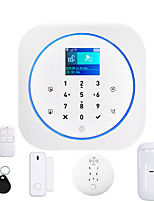 cheap -tuya wifi gsm alarm security system with smoke detector alexa compatible app control smart home wireless safety alarm kits