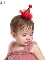 cheap -cross-border european and american creative lace mesh gift hat handmade children's hair accessories fashion how much princess hat headband hairpin