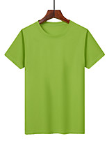 cheap -Men's T shirt Hiking Tee shirt Short Sleeve Tee Tshirt Top Outdoor Quick Dry Lightweight Breathable Sweat wicking Spring Summer Lake blue fluorescent green White Hunting Fishing Climbing