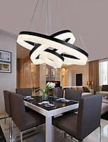 cheap -LED Pendant Light Ring Circle Black Dimmable Modern Ceiling Chandelier Loft Decor Living Dining Room Bedroom Hanging Lights