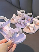 cheap -Girls' Sandals Comfort Flower Girl Shoes Princess Shoes PU Mary Jane Big Kids(7years +) Daily Home Walking Shoes Bowknot Sequin Purple Pink Spring Summer