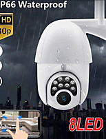 cheap -8 bulb machine monitoring wireless wifi camera two-way intercom with alarm indoor and outdoor waterproof monitoring camera
