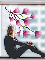 cheap -Plants Flowers Pattern Matte Window Film Cling Vinyl Thermal-Insulation Privacy Protection Home Decor For Window Cabinet Door Sticker Window Sticker 60*58CM