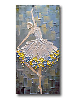 cheap -Stretched Oil Painting Hand Painted Canvas Abstract Comtemporary Modern High Quality Dancer Girl Heavy Oil Ready to Hang