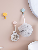 cheap -Multicolor Robe Hook Plastic Bathroom Strong Non-perforated Non-marking Hook Sticky Hook 10pcs