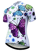 cheap -JESOCYCLING Women's Short Sleeve Cycling Jersey White Bike Jersey Mountain Bike MTB Road Bike Cycling Quick Dry Breathable Sports Clothing Apparel / Stretchy