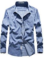 cheap -Men's Hiking Shirt / Button Down Shirts Fishing Shirt Military Tactical Shirt Long Sleeve Jacket Shirt Top Outdoor Quick Dry Lightweight Breathable Sweat wicking Autumn / Fall Spring Summer Light