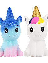 cheap -4.9 Inches Squishies 2 PCS Unicorn Galaxy Kawaii Soft Slow Rising Scented Animal Squishies Stress Relief Kids Toys (Galaxy  White)
