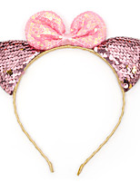 cheap -cross-border exclusively for european and american new sequined bow hair accessories, baby cat ears, children's headband, holiday dress