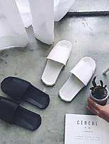 cheap -Women's Sandals Flat Heel Open Toe PU Solid Colored White Black