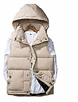 cheap -Men's Hiking Down Jacket Hiking Vest / Gilet Sleeveless Winter Jacket Top Outdoor Quick Dry Lightweight Breathable Sweat wicking Autumn / Fall Winter Spring Black Blue Red Fishing Climbing Running