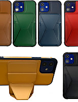 cheap -Phone Case For Apple Magnetic Adsorption iPhone 12 Pro Max 11 SE 2020 X XR XS Max 8 7 6 Shockproof Dustproof with Stand Solid Colored PU Leather