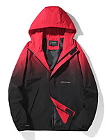 cheap -Men's Hiking Jacket Hiking Windbreaker Autumn / Fall Spring Summer Outdoor Quick Dry Lightweight Breathable Sweat wicking Jacket Top Fishing Climbing Running White Blue Red