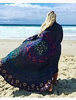 cheap -2021 amazon ebay european and american new beach towel round sunscreen shawl wish aliexpress wrap skirt 150*150CM