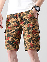 """cheap -Men's Hiking Shorts Hiking Cargo Shorts Summer Outdoor 12"""" Ripstop Quick Dry Multi Pockets Breathable Cotton Knee Length Shorts Bottoms Light Tan Yellow Army Green Blue Work Hunting Fishing 28 29 30"""