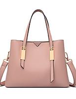 cheap -Women's Bags PU Leather Satchel Top Handle Bag Date Office & Career 2021 Handbags Wine Black Red Blushing Pink
