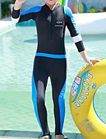 cheap -Boys' Girls' Rash Guard Dive Skin Suit Nylon Swimwear UV Sun Protection Quick Dry Long Sleeve Swimming Surfing Snorkeling Patchwork Autumn / Fall Spring Summer / Kid's