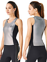 cheap -Dive&Sail Women's Wetsuit Top 2mm CR Neoprene Vest / Gilet Thermal Warm Quick Dry Sleeveless Swimming Diving Surfing Scuba Patchwork Summer