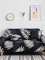 cheap -2021 New Stylish Simplicity Print Sofa Cover Stretch Couch Super Soft Fabric Retro Hot Sale Black White Plant Couch Cover